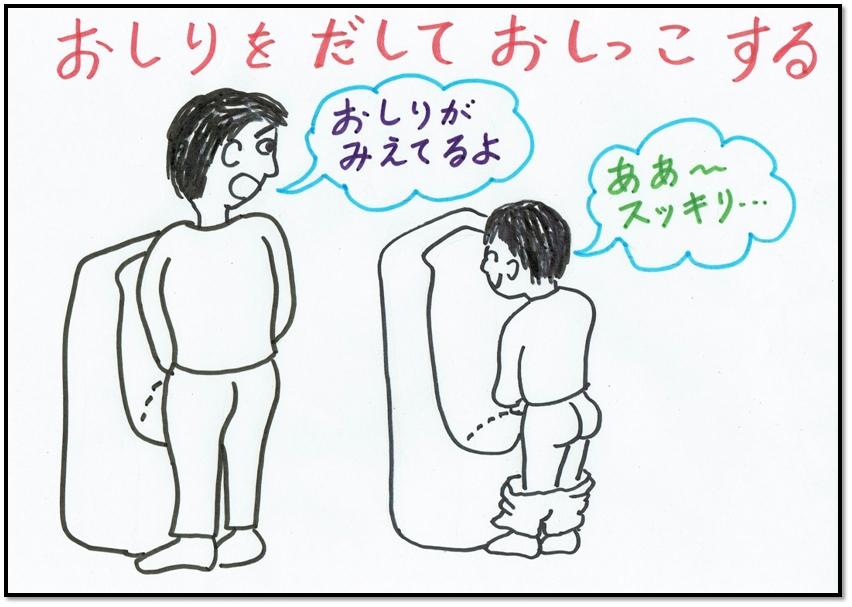 トイレおしり出し クイズ