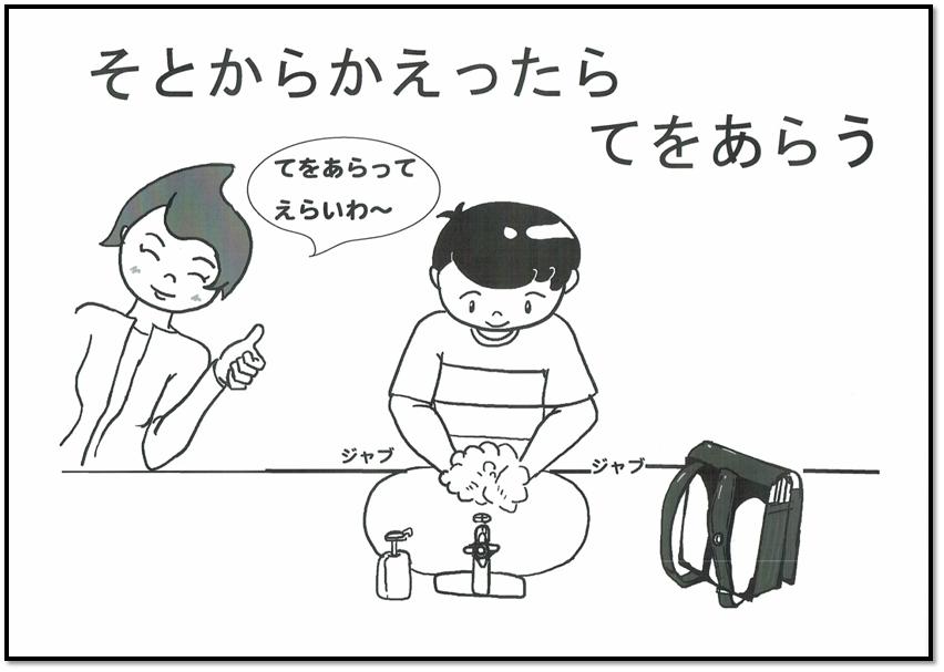 帰宅 手洗いA クイズ